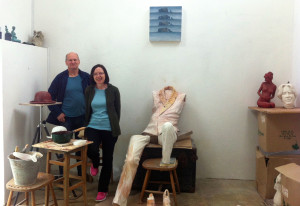 In sculptor Danny Osborne's West Cork studio with Danny and his wife Geraldine,