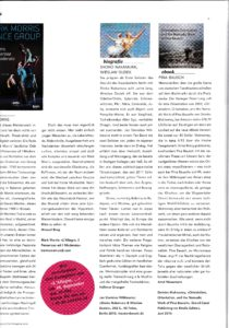 Book Review by Arnd Weseman, TANZ Magazine, 8/2015